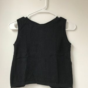 New Brandy Melville Black Open Back Crop Top Small